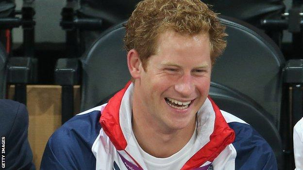 Prince Harry at the London Paralympic Games in 2012