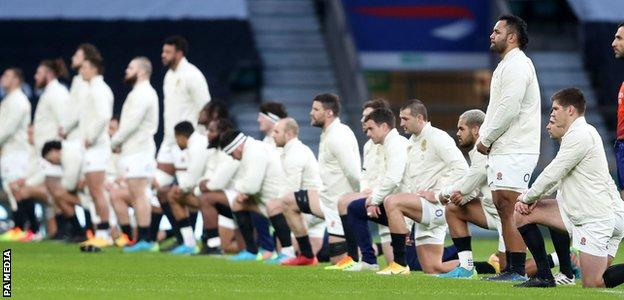 Billy Vunipola was one of the England team who chose to stand rather than take a knee before kick-off
