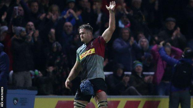 Former Australia captain James Horwill, who will retire at the end of the season after four years with Harlequins, played his final game at The Stoop