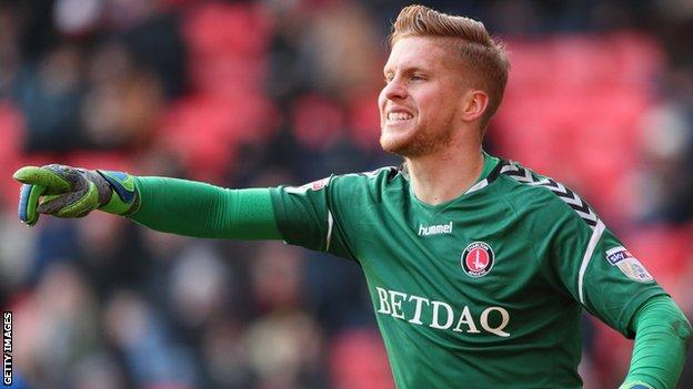 Ben Amos in action for Charlton Athletic