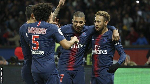 PSG's Mbappe and Neymar
