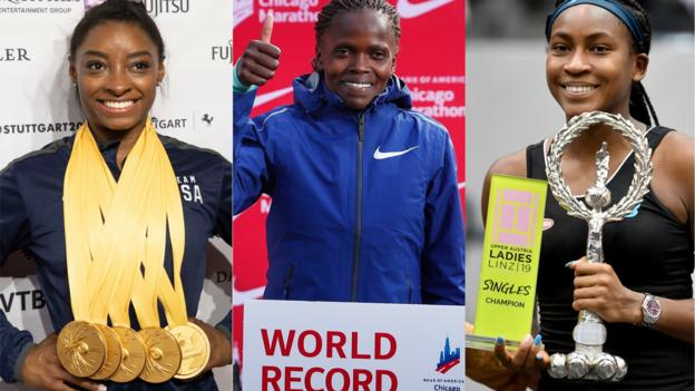 Biles, Kosgei and Gauff - how the female trio are lighting up sport