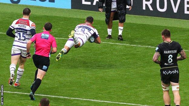 Ben Youngs scores for Leicester