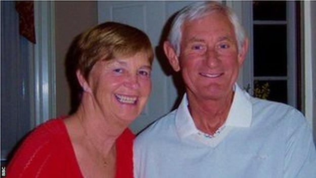 Judith Gates with her husband and former footballer Bill who has dementia