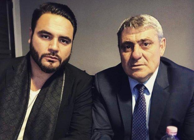 Gramoz Vokrri with his father Fadil