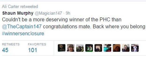 Shaun Murphy on Twitter