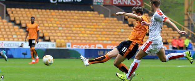 Kevin McDonald opened the scoring for Wolves