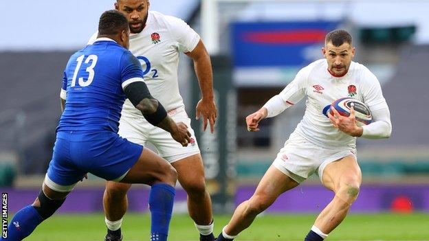 Jonny May playing against France