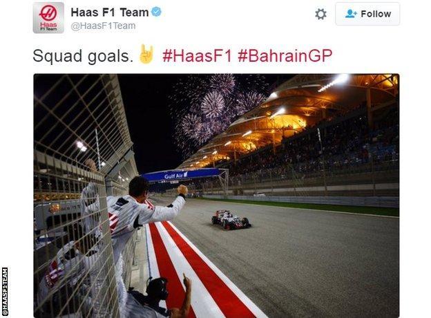 Haas F1 Team Twitter