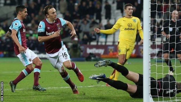 West Ham United 1 0 Burnley Bbc Sport