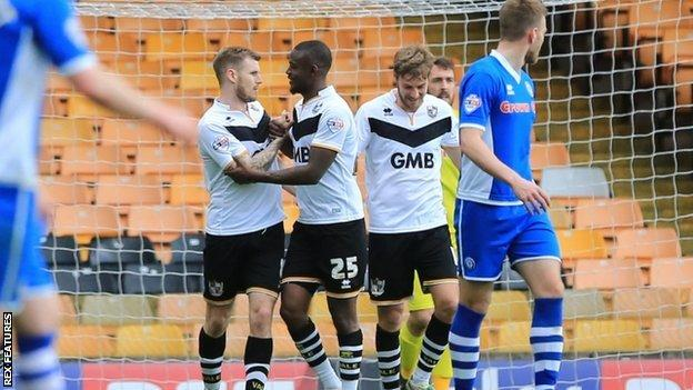 Port Vale midfielder Michael O'Connor (left) scored twice in his side's 4-1 win at home to Rochdale