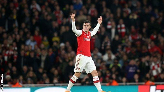 Granit Xhaka, Arsenal vs Crystal Palace