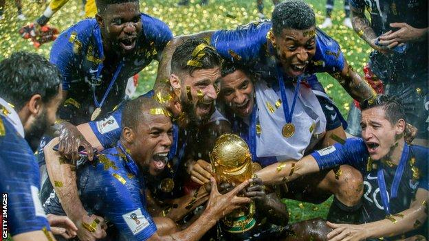 France won the last men's World Cup in Russia in 2018