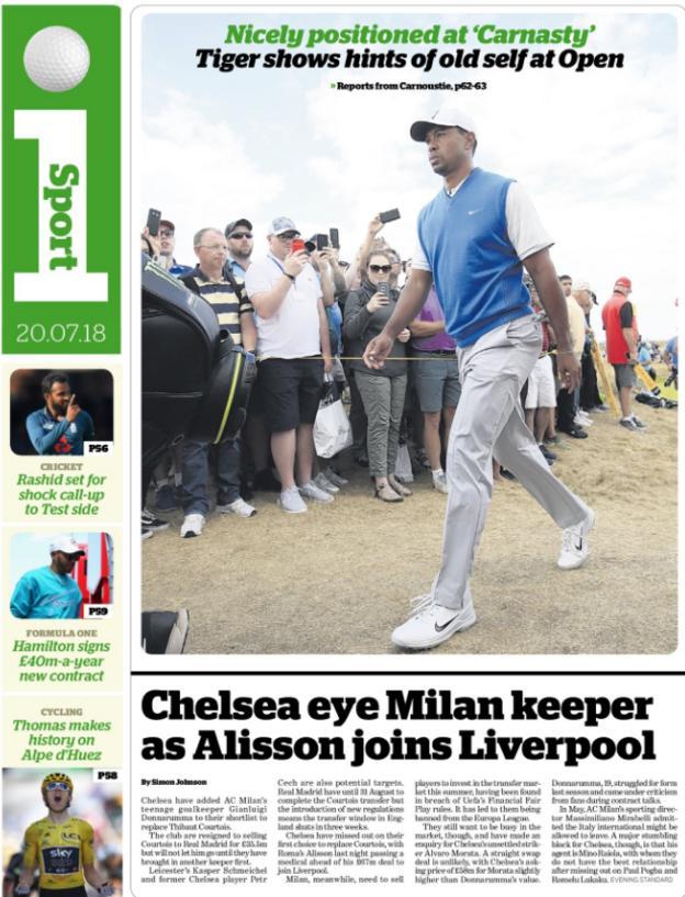 I Sport back page