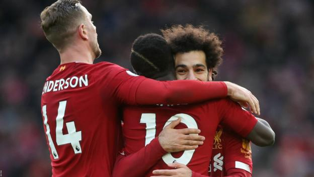 Liverpool 2-0 Watford: Mohamed Salah double gives Reds win thumbnail