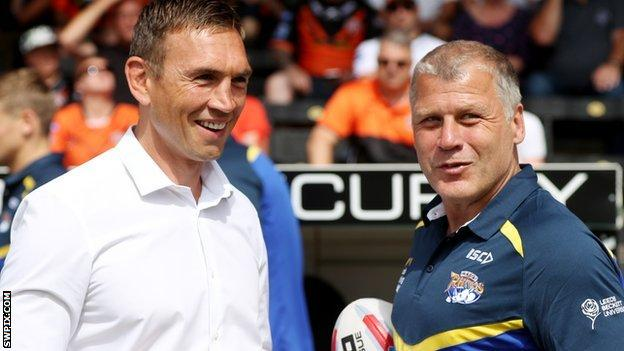 Kevin Sinfield and James Lowes