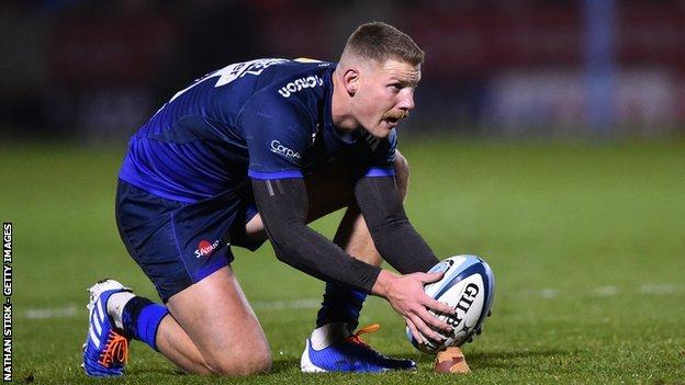 Rob du Preez kicked 17 of Sale's 28 points at the AJ Bell Stadium