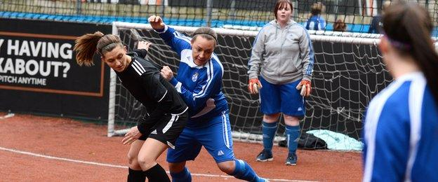 She Can Play and Dartford Royals compete during the Adult Females matches in London City