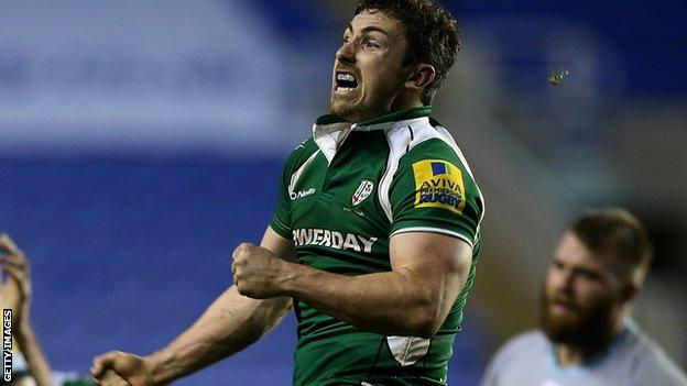 London Irish scrum-half Brendan McKibbin