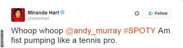 Miranda Hart tweet snip