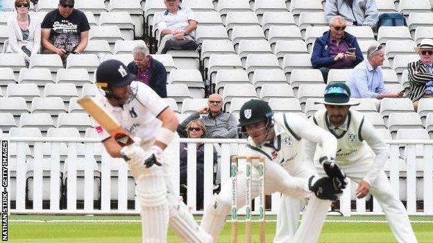 Warwickshire were limited to a pilot 1,000 crowd for a two-day pre-season friendly with Worcestershire last July - just prior to the start of the the summer's Bob Willis Trophy campaign