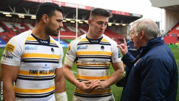 While Josh Adams' future is now sorted, Worcester boss Alan Solomons is yet to ascertain where fellow international Ben Te'o (left) will play next season