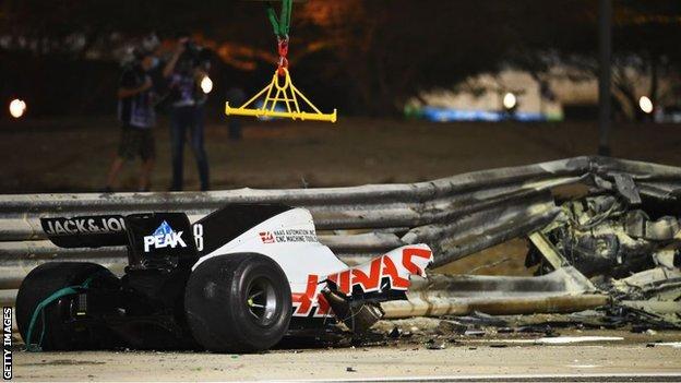 Romain Grosjean: Haas driver 'doesn't feel like a hero' after escape from fiery accident (2020)