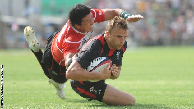 Tom Prydie scored a try against Japan in his last appearances for Wales