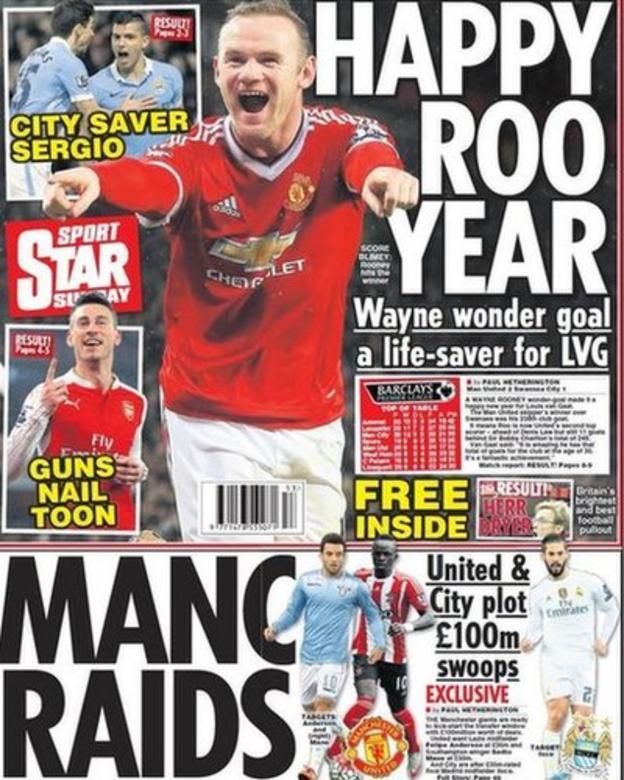 Sunday's Star back page
