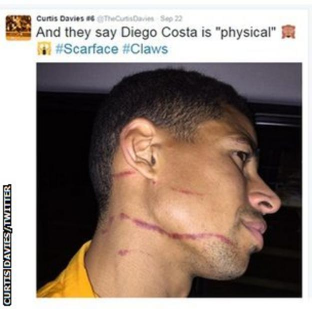 Curtis Davies posted this picture on his Twitter page an hour after Hull's win over Swansea