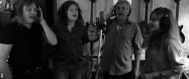 Singers record 'Fly Away Treve'