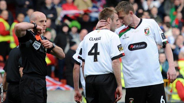 Richard Clarke got a red card