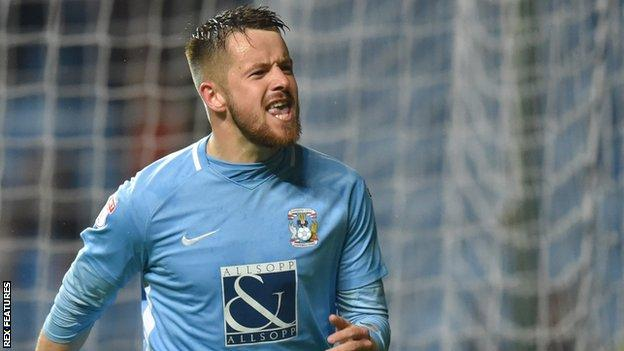 Marc McNulty in action for Coventry City
