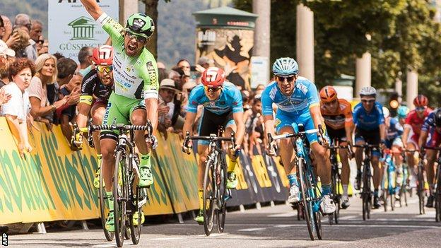Nicola Ruffoni won stage one of the Tour of Austria last year