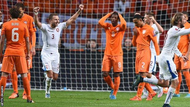 Netherlands lose 3-2 to Czech Republic