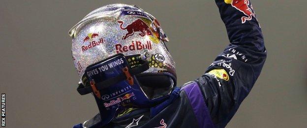 Sebastian Vettel at the 2013 Singapore GP