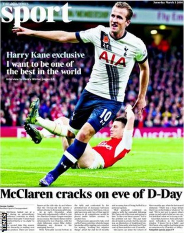 Times back page on Saturday