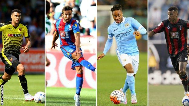 Etienne Capoue, Yohan Cabaye, Raheem Sterling and Tyrone Mings