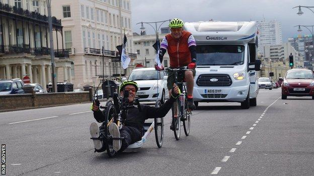 Rob Groves leaving Brighton on 2 July for his coastal challenge