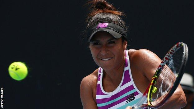 Heather Watson loses at the Hungarian Open