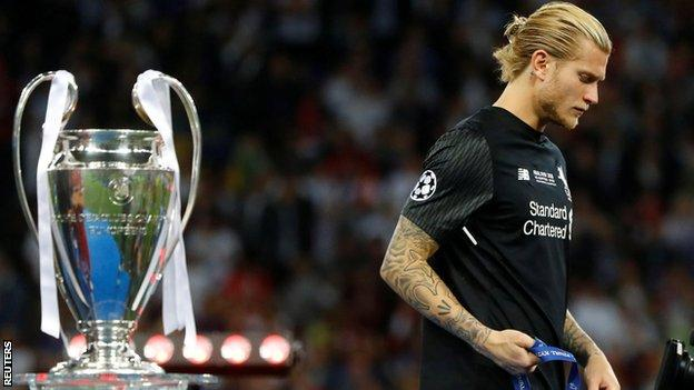 Karius underwent tests five days after the Champions League final defeat