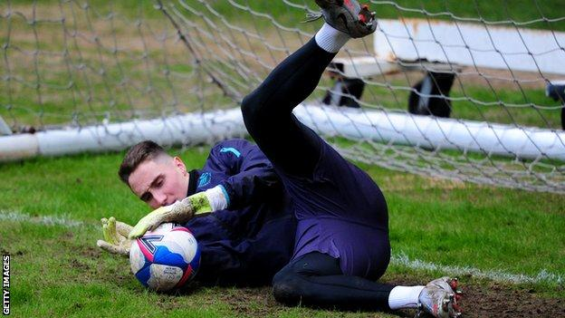 German keeper Steven Benda impressed while on loan at Swindon Town in 2019-20