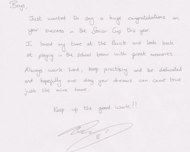 Steven Davis pens a letter to the Buick Memorial team with a bit of wise advice for the boys