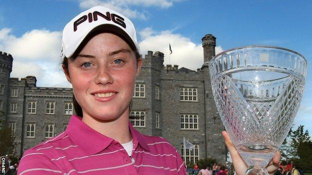 Maguire won the leading amateur at the 2010 Ladies Irish Open