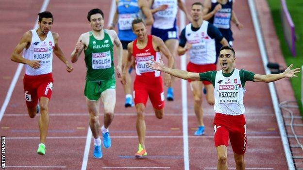 Mark English takes bronze at last year's European Championships