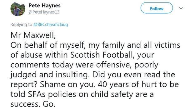 Pete Haynes tweet