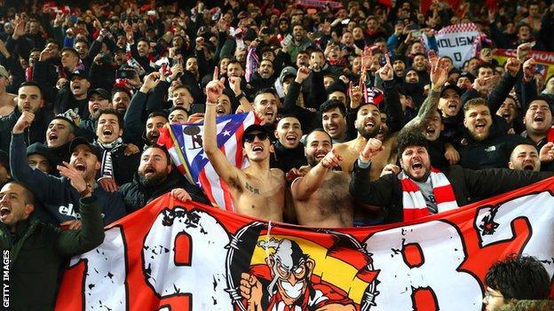 Partidarios del Atlético de Madrid