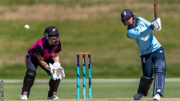 Danni Wyatt hits shot for England