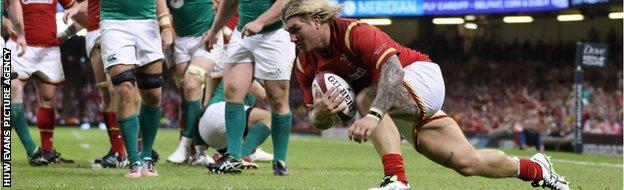 Richard Hibbard first try against Ireland