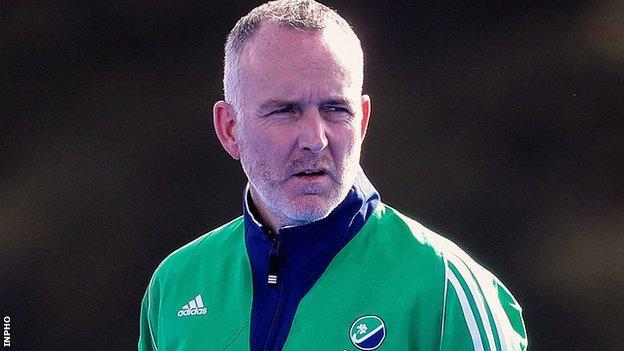 Ireland head coach Mark Tumilty